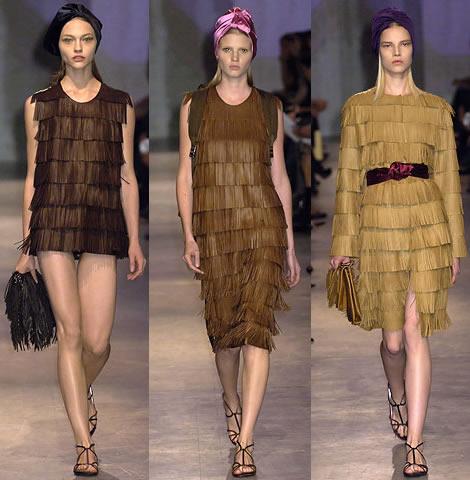 prada fringe clothes Strapce na topánkach, kabelkách a oblečení sú IN   kedy aj u nás?