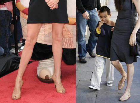 angelina jolie shoes Už viem, prečo má Angelina Jolie nohy dlhé až po zem