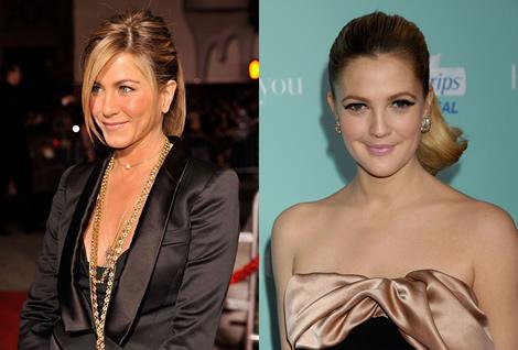 premiera drew jennifer Klasická elegancia Drew Barrymore vs. nohavicová elegancia Jennifer Aniston