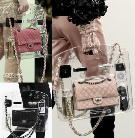 chanel fw09 priesvitna kabelka Doplnky Chanel sú jednoducho wow