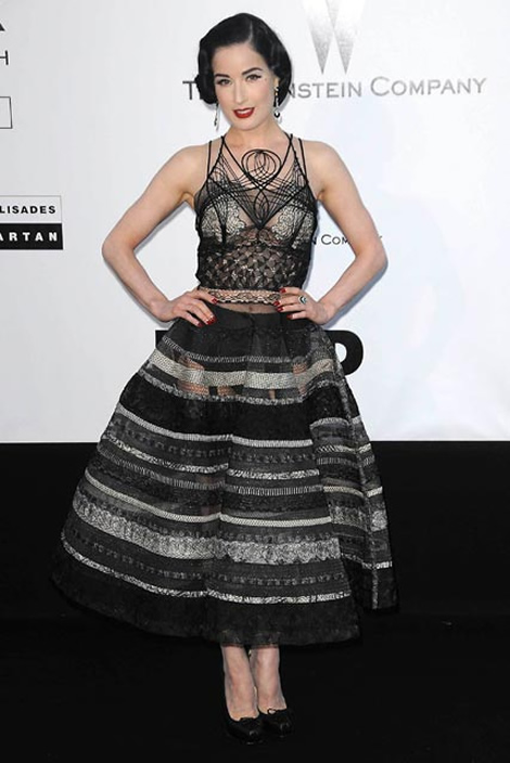 cannes dita von teese jean paul gaultier Tie najlepšie šaty z festivalu Cannes 2009
