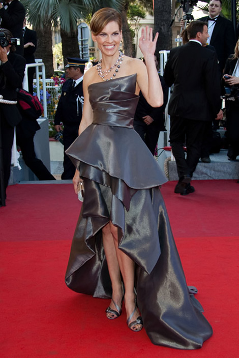 cannes hilary swank Tie najlepšie šaty z festivalu Cannes 2009