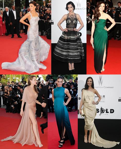 cannes preview Tie najlepšie šaty z festivalu Cannes 2009