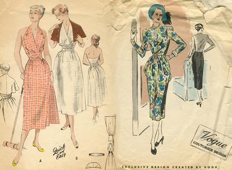 vintage sitie ilustracne foto Pohľad do minulosti: Vintage až retro, staré čísla časopisov a šitie na doma