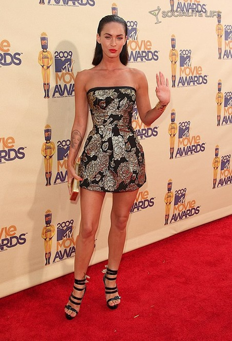mtv movie awards megan fox 01 MTV Movie Awards 2009: Minišaty, dobrý look, preklepy a Bruno ako bonus
