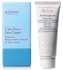 oriflame calm down face cream avene antirouge cream rich Krémy na červené žilky na tvári