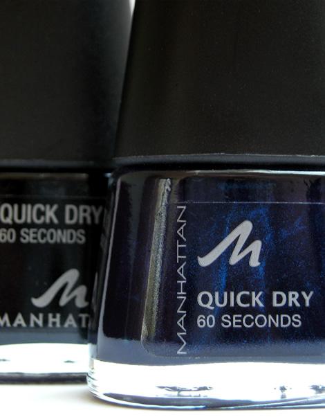 manhattan quick dry navy 01 Lak na nechty Manhattan Quick Dry v tmavo modrom odtieni