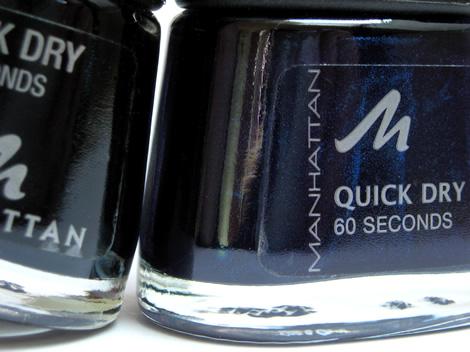manhattan quick dry navy 02 Lak na nechty Manhattan Quick Dry v tmavo modrom odtieni