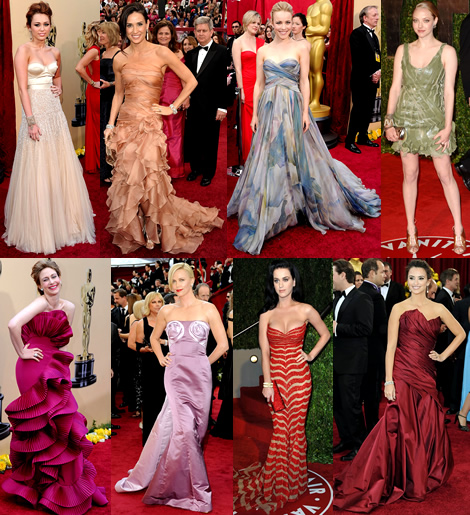 2010 academy awards 02 Academy Awards 2010: Miley Cyrus je spech, rue Charlize Theron nie
