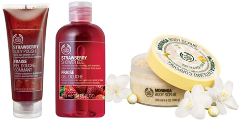 bodyshop moringa strawberry2 Zľava na rady Moringa a Strawberry v The Bodyshope