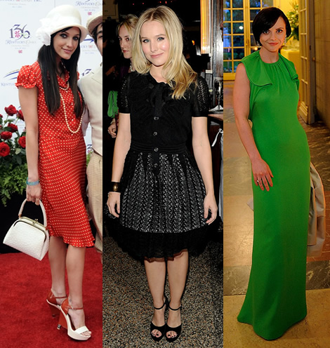 celebz Top looky minulho tda: Ashley Simpson je retro, Christina Ricci zelen