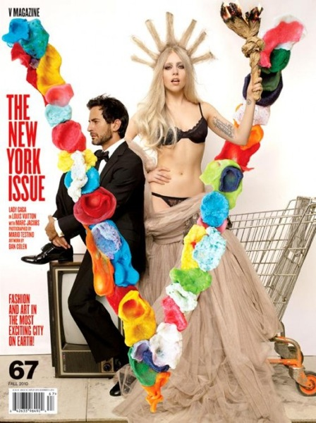Lady Gaga V Magazine New York Issue Cover 500x669 Lady Gaga ako Socha Slobody