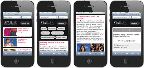 iphone stajl Stajl prispôsobený pre iPhone a iPod touch