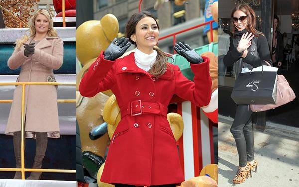 celebz Celebrity v kabátikoch a kabátoch na Deň vďakyvzdania a Čierny piatok