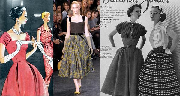 full skirt Trendy na sezónu jar/leto 2011: Moderné 60. a 70. roky, krátke topy a návrat capri nohavíc