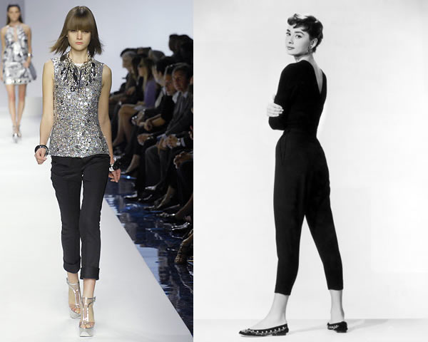 capri nohavice Trendy na sezónu jar/leto 2011: Moderné 60. a 70. roky, krátke topy a návrat capri nohavíc