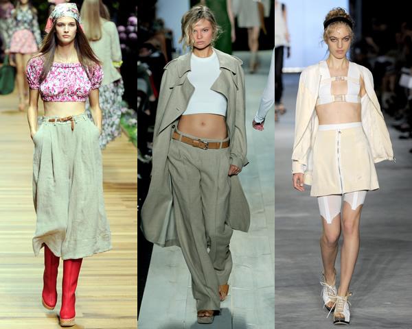 kratke topz Trendy na sezónu jar/leto 2011: Moderné 60. a 70. roky, krátke topy a návrat capri nohavíc