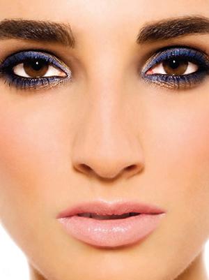 brown eyes blue eye makeup Ako na tmavomodrý tieň ak nemáte modré oči