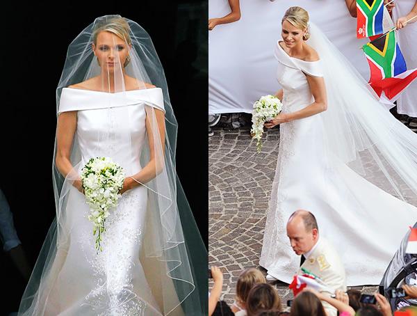 2 Kate Moss a Charlene Wittstock povedali áno v dizajnérskych šatách