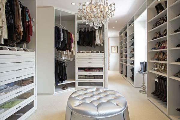 Walk in closets 23 33 inšpirácií a 11 tipov, ako by mal vyzerať váš vysnívaný a ideálny šatník