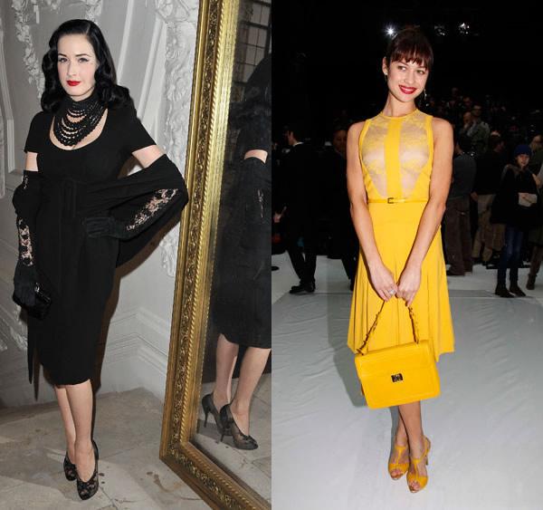 1 Celebrity z prvého radu: Ktorá sa obliekla na jarnom Haute Couture Week 2012 najlepšie?