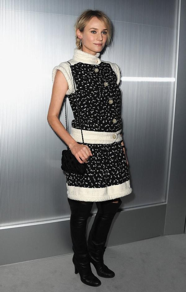 diane kruger cameron diaz chanel haute couture show 03 Celebrity z prvého radu: Ktorá sa obliekla na jarnom Haute Couture Week 2012 najlepšie?