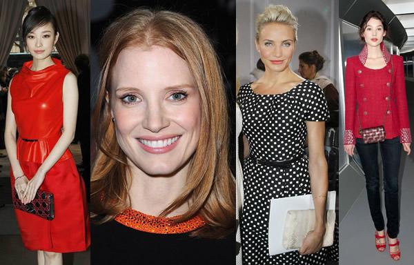 foto Celebrity z prvého radu: Ktorá sa obliekla na jarnom Haute Couture Week 2012 najlepšie?