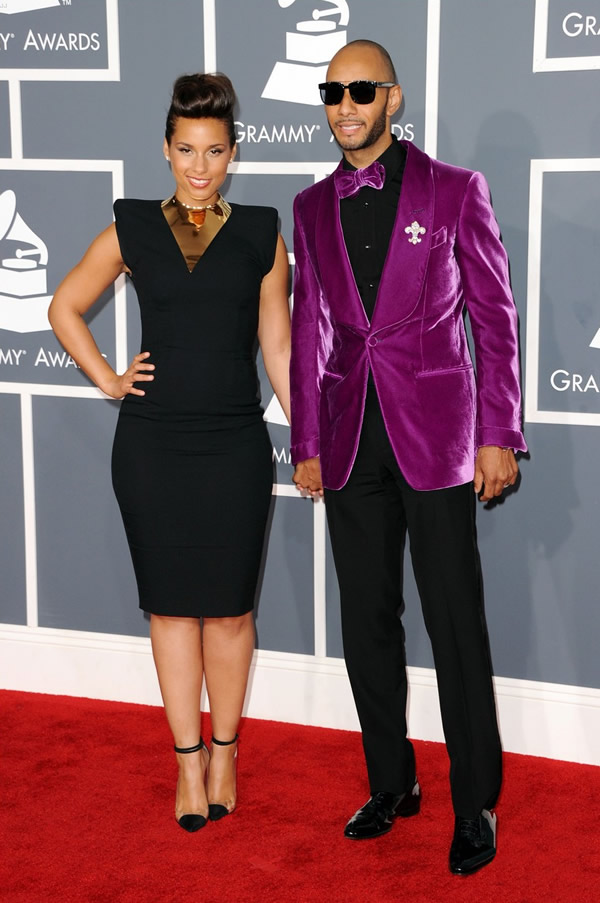 alicia keys swizz beatz grammys 02 Grammy Awards 2012: Čierny smútok za Whitney