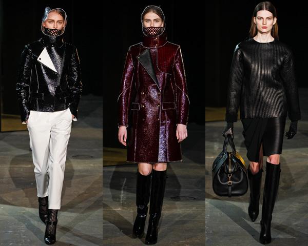 aw01 New York Fashion Week: Jeseň/zima 2012 v znamení kože, geometrických potlačí a odvážnych materiálov