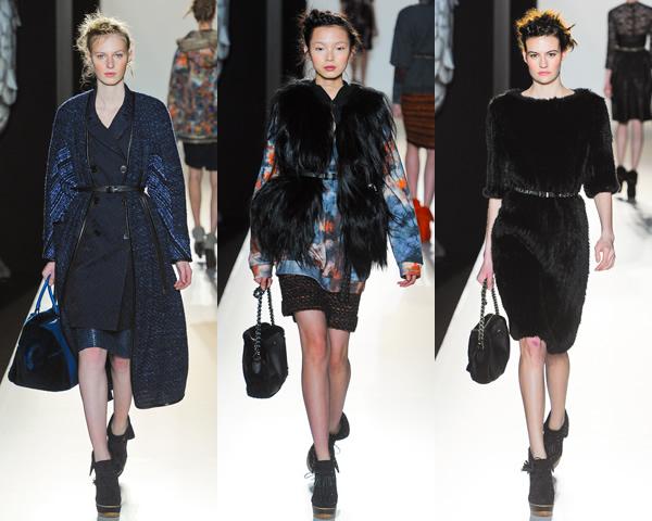 m02 London Fashion Week: Jeseň/zima 2012 s kožou, kožušinkami, klasikou ale i šialenými potlačami