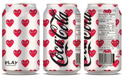 comme des garcons play coca cola light 468x302 Dizajn Coca Coly bude v rukách Jean Paul Gaultiera