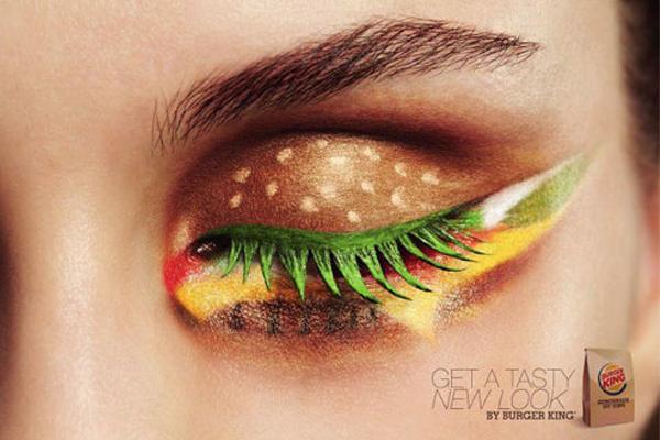 burger king makeup ad Krása ide cez žalúdok, vraví Burger King