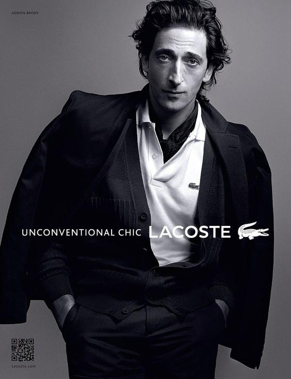 Adrien Brody for Lacoste Adrien Brody je najnovšou tvárou značky Lacoste