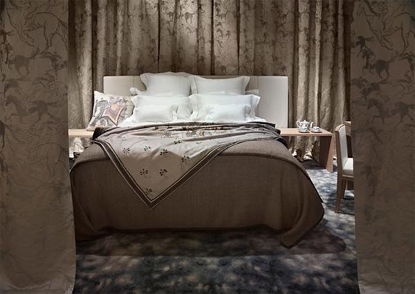 Hermes La Maison bedroom Svet má prvý apartmán zariadený značkou Hermés