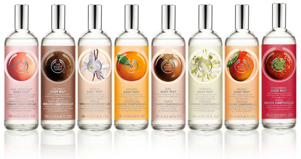 body shop body mist The Body Shop prináša nový rad vôní Body Mist