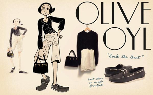 olive oyl look 2 Olive Oyl ako znovuobjavená módna ikona