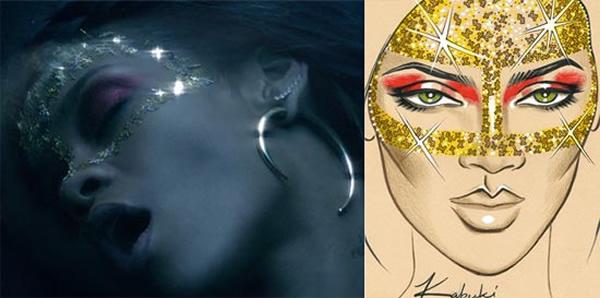 rihanna where have you been makeup how to Rihannin mystický mejkap v novom videoklipe Where Have You Been