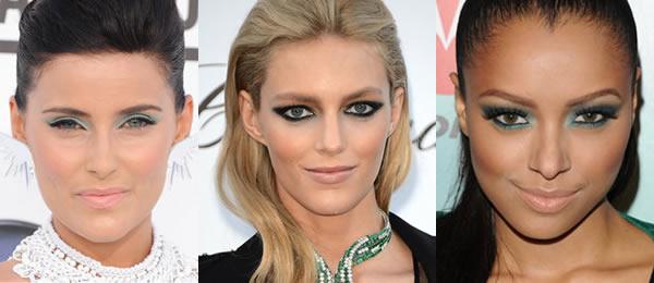 celebz Celebrity milujú mentolové tiene a broskyňové líčka