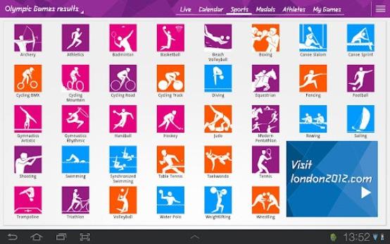 London 2012 Results Android App Chystáte sa do Londýna? Nezabudnite na aplikácie