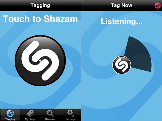 shazam tagging 10 zaujímavých mobilných aplikácií