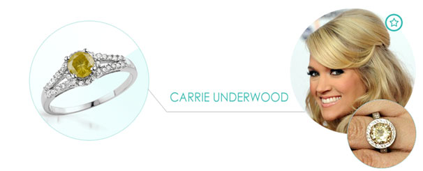 carrie underwood Zásnubný prsteň ako pre celebritu