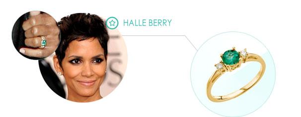 halle berry Zásnubný prsteň ako pre celebritu
