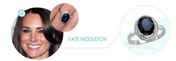 kate middleton Zásnubný prsteň ako pre celebritu