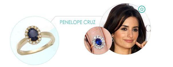 penelope cruz Zásnubný prsteň ako pre celebritu