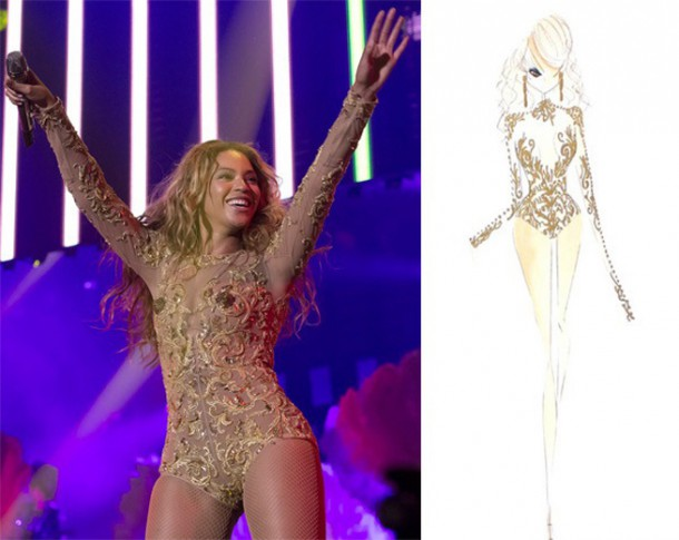 beyonce givenchycrop 610x485 Outfity pani Cartrovej