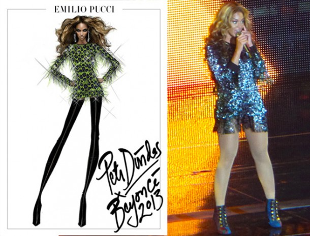 beyonce mrs carter tour pucci 2 610x465 Outfity pani Cartrovej