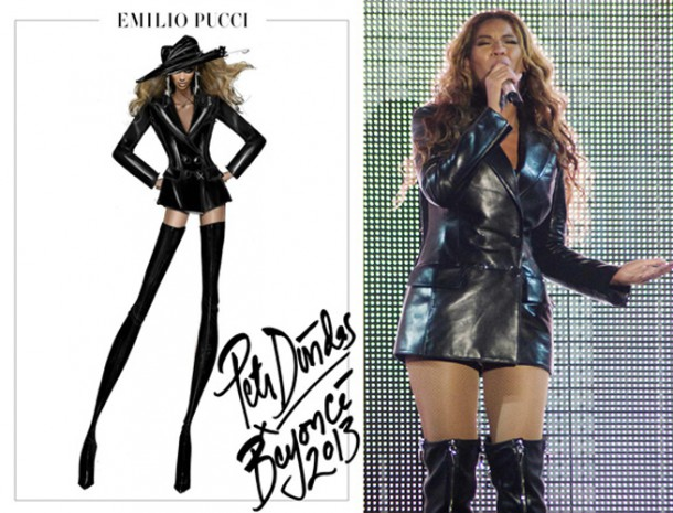 beyonce mrs carter tour pucci 3 610x465 Outfity pani Cartrovej