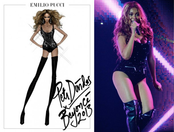 beyonce mrs carter tour pucci 4 610x465 Outfity pani Cartrovej