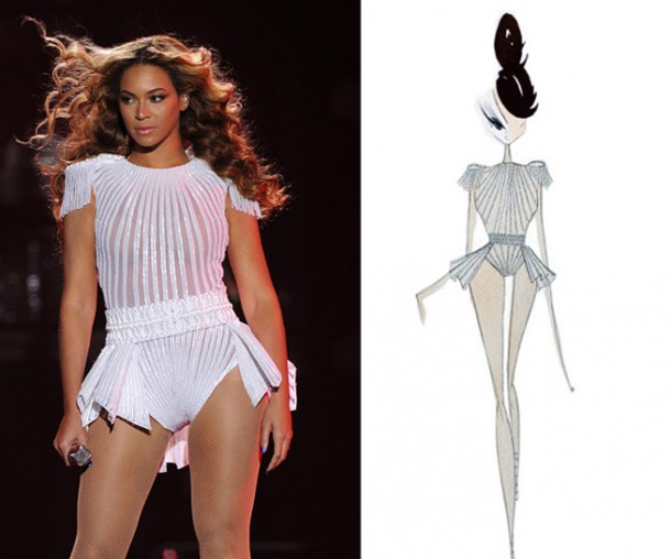 beyonce ralph and russo 610x508 Outfity pani Cartrovej