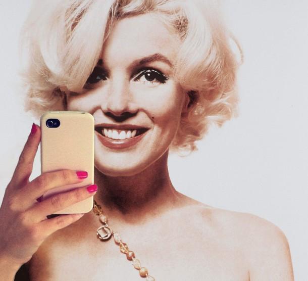 marilyn monroe selfie 610x556 Odfoť #Selfie, staň sa modelkou